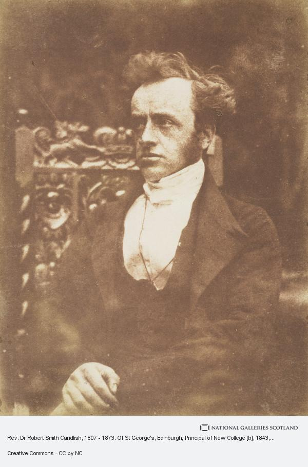 David Octavius Hill, Rev. Dr Robert Smith Candlish, 1807 - 1873. Of St George's, Edinburgh; Principal of New College [b]