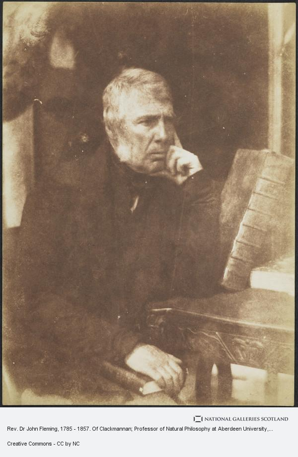 David Octavius Hill, Rev. Dr John Fleming, 1785 - 1857. Of Clackmannan; Professor of Natural Philosophy at Aberdeen University, Professor of Natural Science at New...