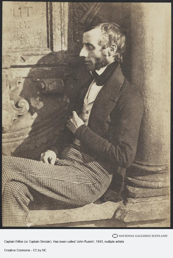 David Octavius Hill, Captain Wilkie (or Captain Sinclair). Has been called 'John Ruskin'