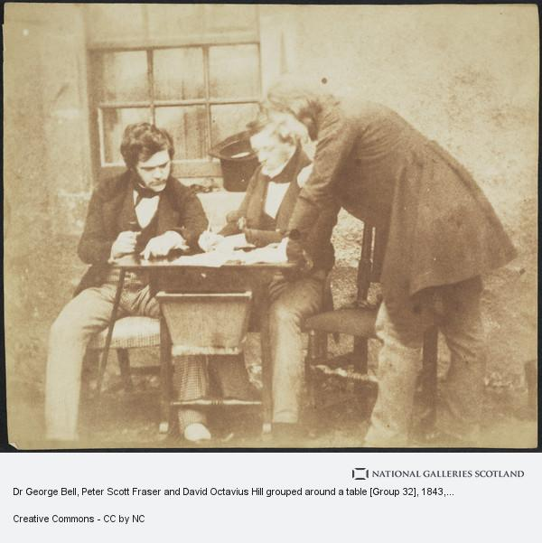 David Octavius Hill, Dr George Bell, Peter Scott Fraser and David Octavius Hill grouped around a table [Group 32]