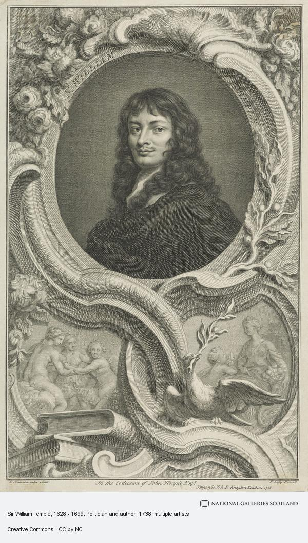 Jacobus Houbraken, Sir William Temple, 1628 - 1699. Politician and author
