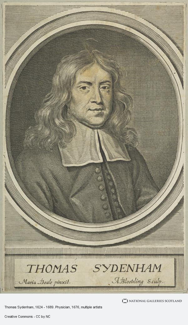 Abraham Blooteling, Thomas Sydenham, 1624 - 1689. Physician