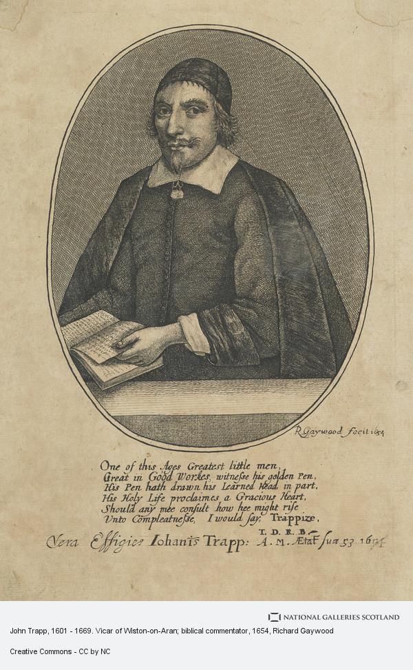 Richard Gaywood, John Trapp, 1601 - 1669. Vicar of Wiston-on-Aran; biblical commentator
