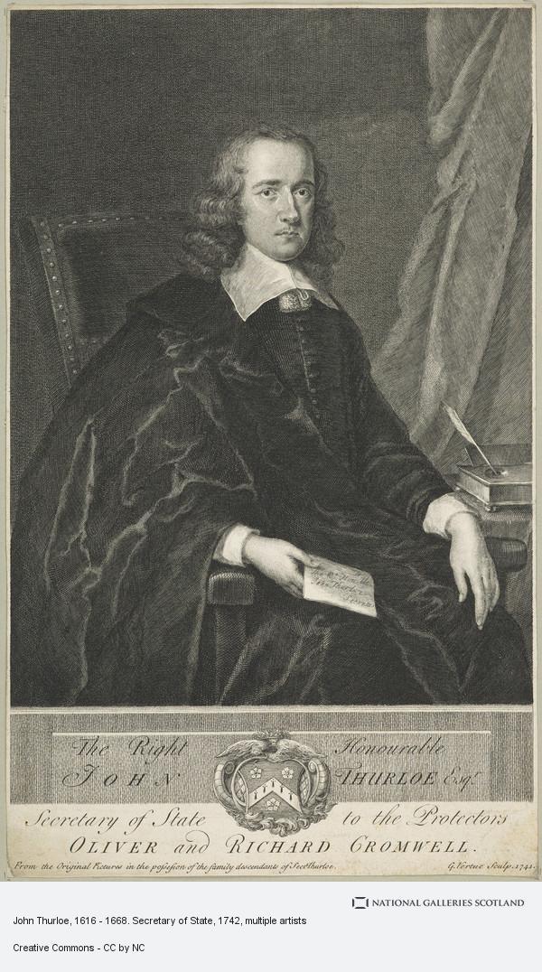 Jonathan Richardson, John Thurloe, 1616 - 1668. Secretary of State