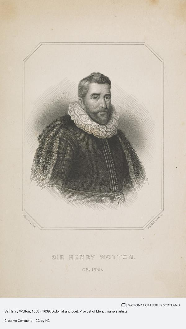 Phillibrown, Sir Henry Wotton, 1568 - 1639. Diplomat and poet; Provost of Eton