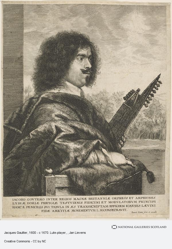 Jan Lievens, Jacques Gaultier, 1600 - c 1670. Lute-player