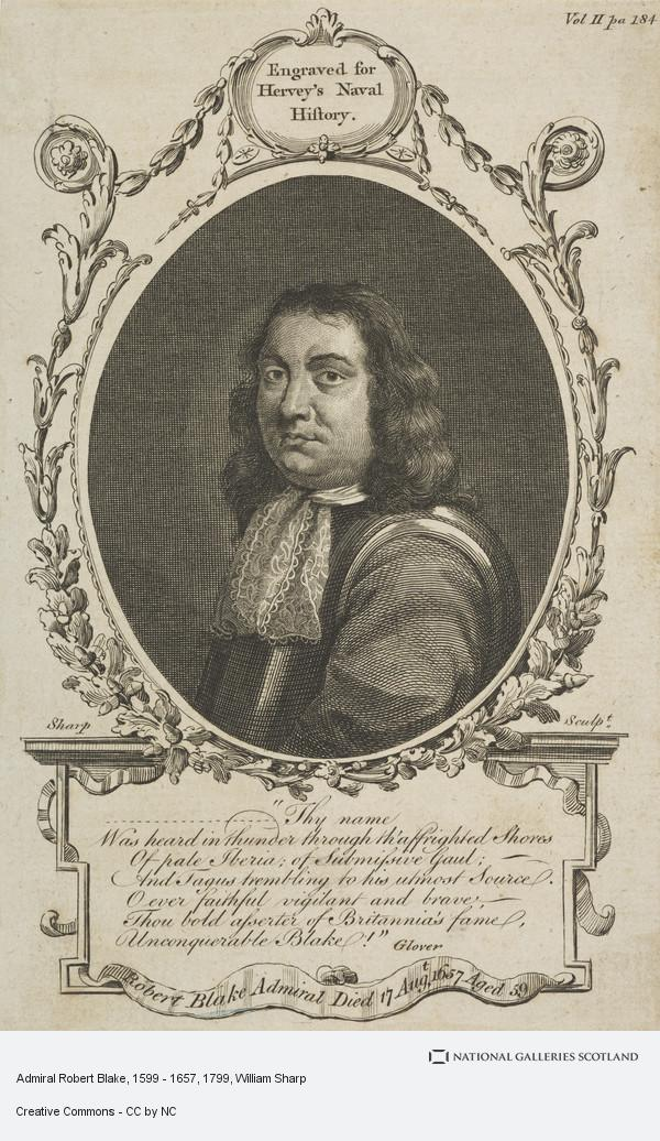 William Sharp, Admiral Robert Blake, 1599 - 1657