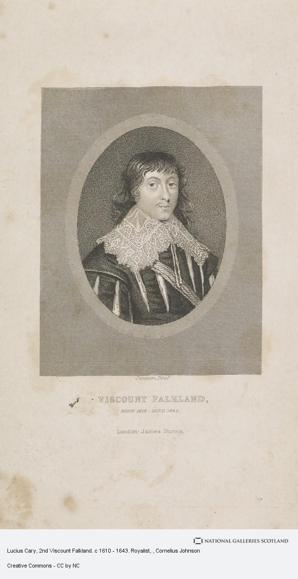 Cornelius Johnson, Lucius Cary, 2nd Viscount Falkland. c 1610 - 1643. Royalist