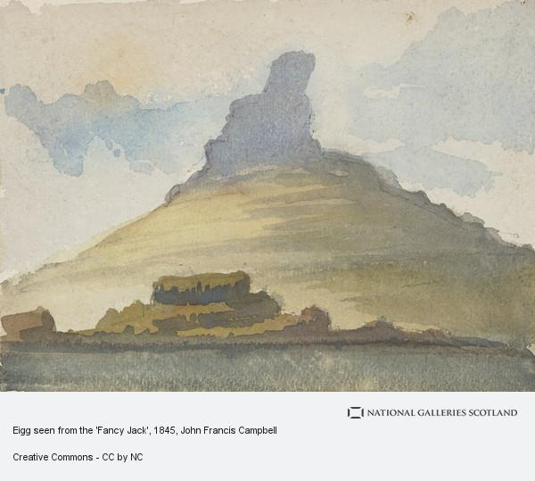 John Francis Campbell, Eigg seen from the 'Fancy Jack'
