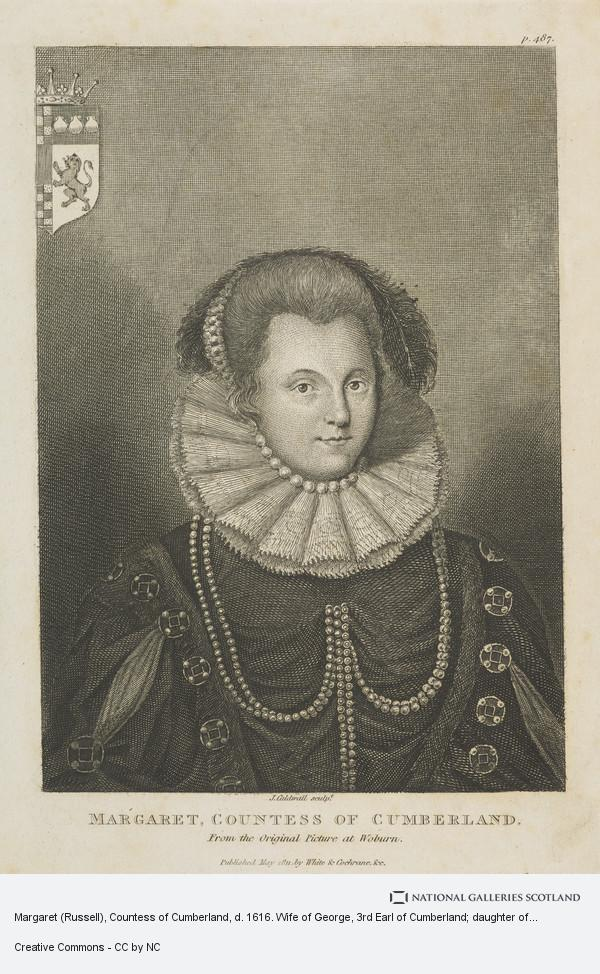 James Caldwall, Margaret (Russell), Countess of Cumberland, d. 1616. Wife of George, 3rd Earl of Cumberland; daughter of Francis, 2nd Earl of Bedford