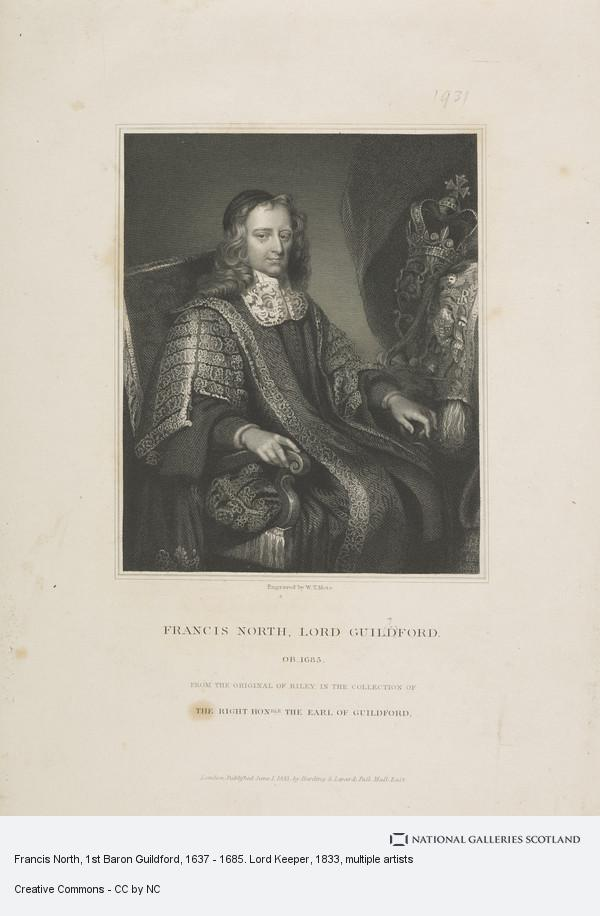 W.T. Mote, Francis North, 1st Baron Guildford, 1637 - 1685. Lord Keeper