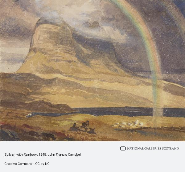 John Francis Campbell, Suilven with Rainbow