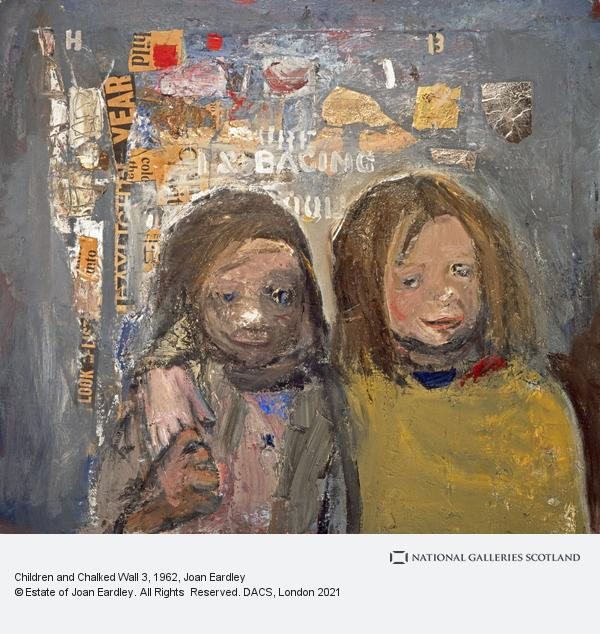 Joan Eardley, Children and Chalked Wall 3