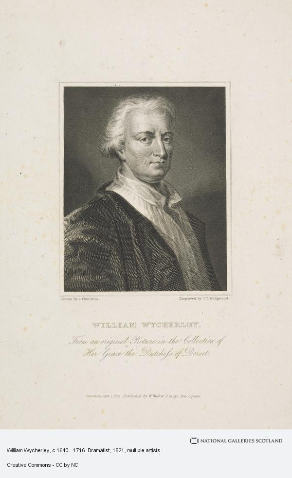 John Thurston, William Wycherley, c 1640 - 1716. Dramatist