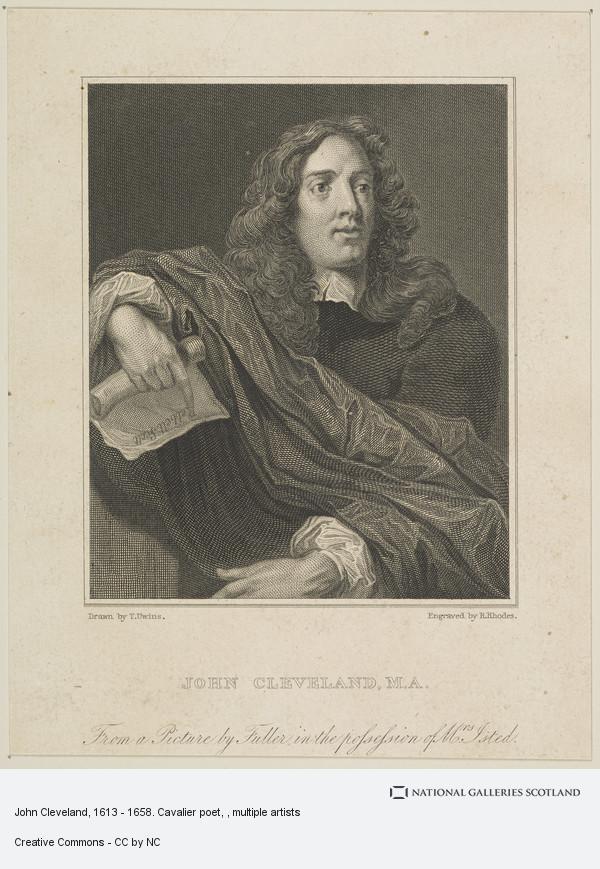 Richard Rhodes, John Cleveland, 1613 - 1658. Cavalier poet