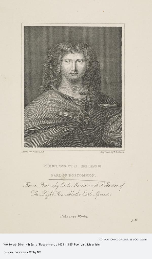 William Raddon, Wentworth Dillon, 4th Earl of Roscommon, c 1633 - 1685. Poet