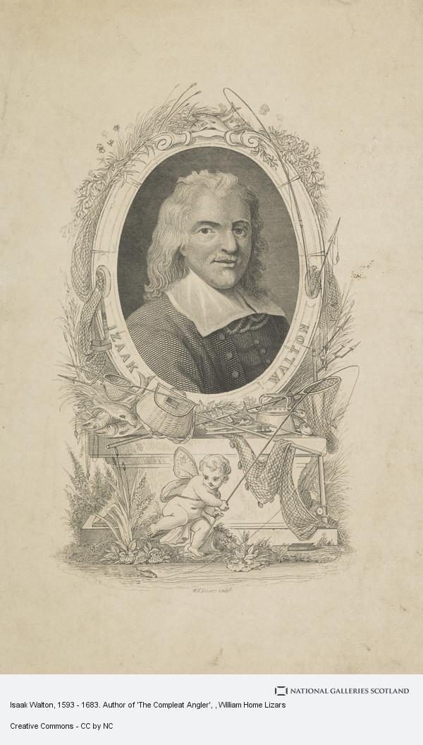 William Home Lizars, Isaak Walton, 1593 - 1683. Author of 'The Compleat Angler'