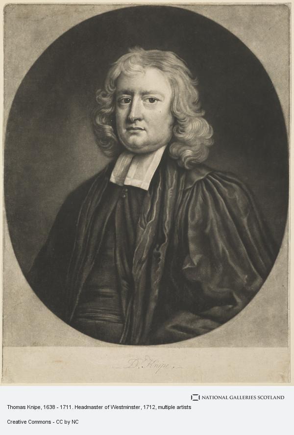 John Smith, Thomas Knipe, 1638 - 1711. Headmaster of Westminster