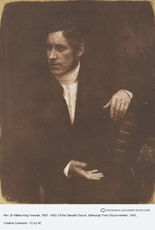 David Octavius Hill, Rev. Dr William King Tweedie, 1803 - 1863. Of the Tolbooth Church, Edinburgh; Free Church minister