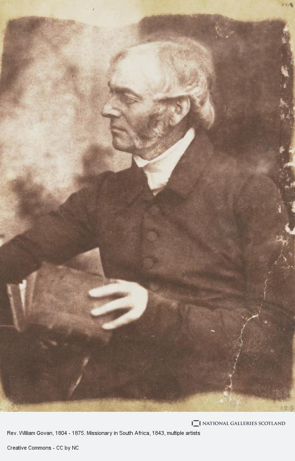 David Octavius Hill, Rev. William Govan, 1804 - 1875. Missionary in South Africa