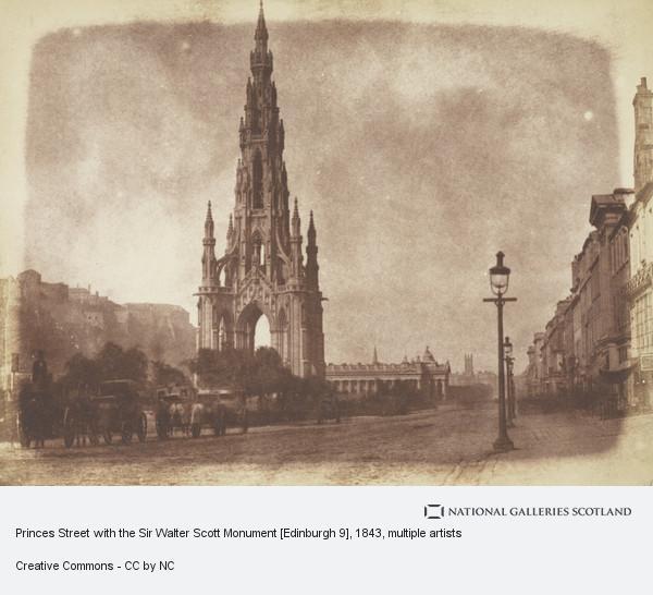 Robert Adamson, Princes Street with the Sir Walter Scott Monument [Edinburgh 9]