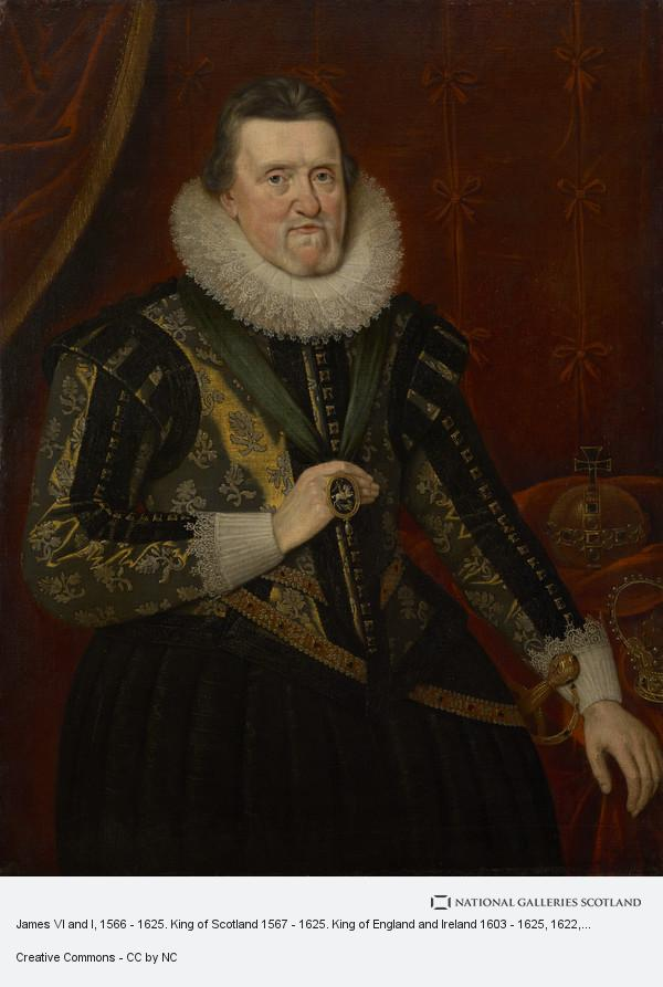 Adam de Colone, James VI and I, 1566 - 1625. King of Scotland 1567 - 1625. King of England and Ireland 1603 - 1625