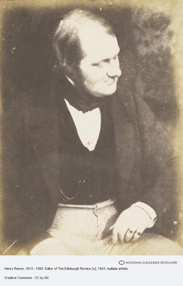 Robert Adamson, Henry Reeve, 1813 - 1895. Editor of The Edinburgh Review [c]