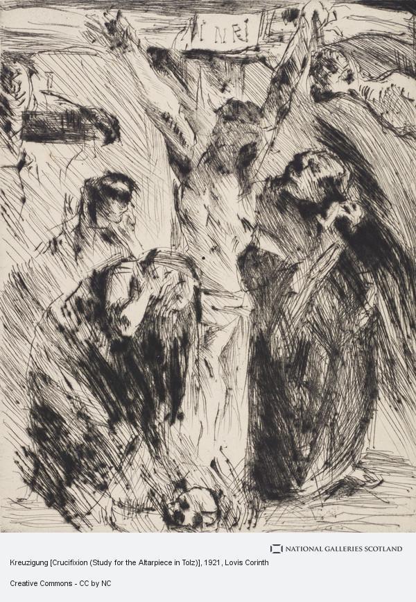 Lovis Corinth, Kreuzigung [Crucifixion (Study for the Altarpiece in Tolz)]