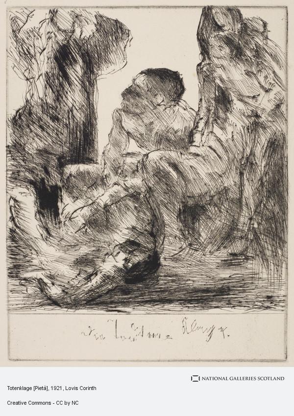 Lovis Corinth, Totenklage [Pietà]