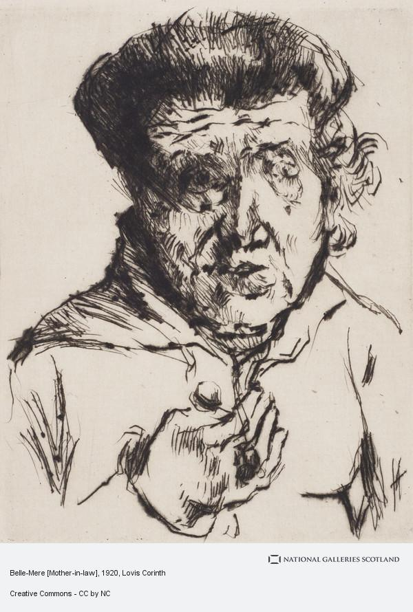 Lovis Corinth, Belle-Mere [Mother-in-law]