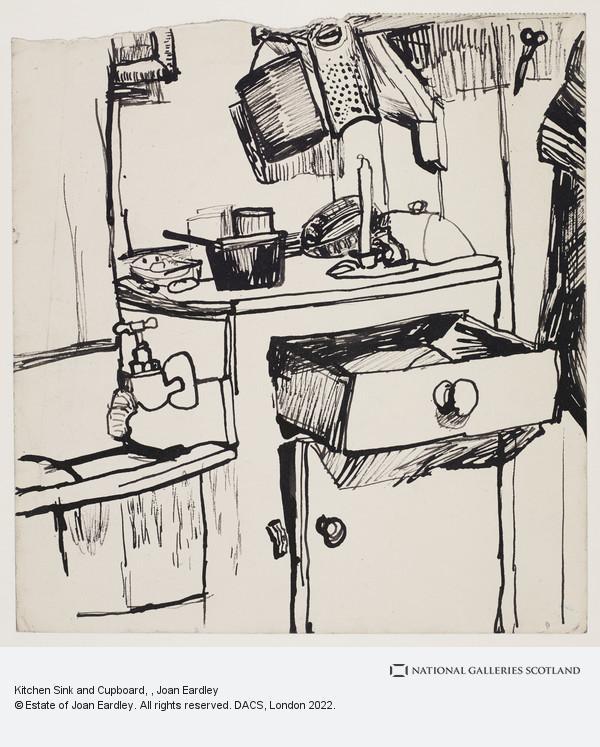 Joan Eardley, Kitchen Sink and Cupboard