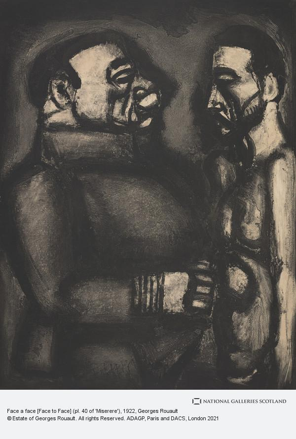 Georges Rouault, Face a face [Face to Face] (pl. 40 of 'Miserere')