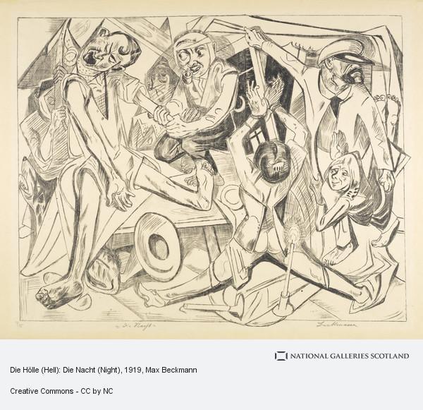 Max Beckmann, Die Hölle (Hell): Die Nacht (Night)