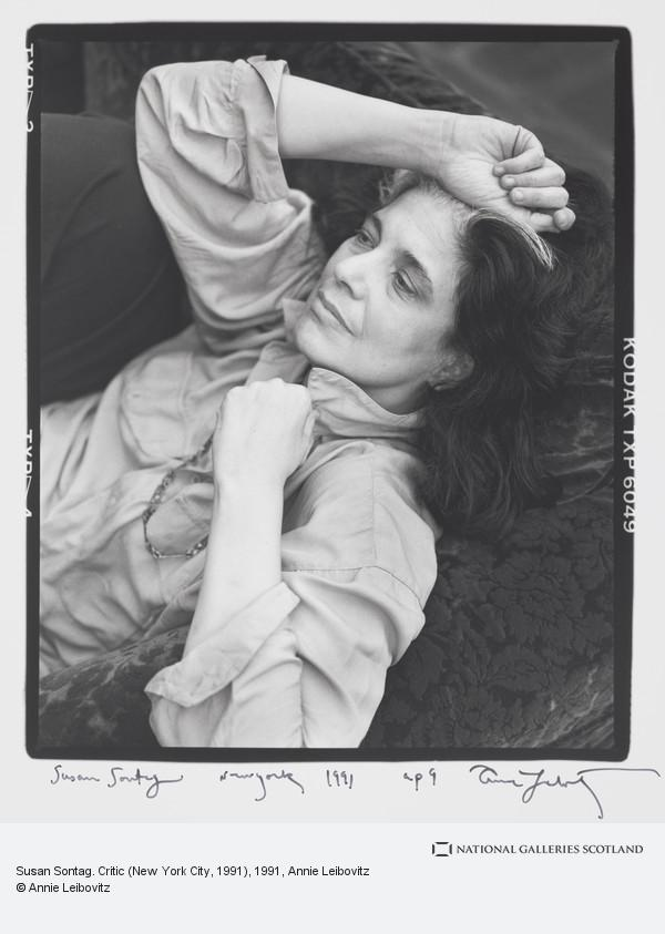 Annie Leibovitz Susan Sontag Critic New York City 1991