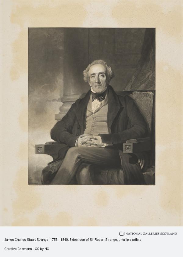 Thomas Dick, James Charles Stuart Strange, 1753 - 1840. Eldest son of Sir Robert Strange