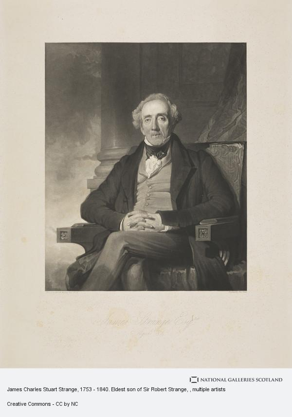 Thomas Dick, James Charles Stuart Strange, 1753 - 1840. Eldest son of Sir Robert Strange