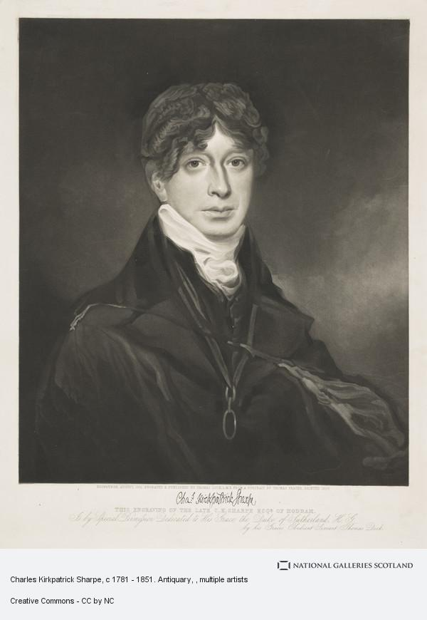 Thomas Dick, Charles Kirkpatrick Sharpe, c 1781 - 1851. Antiquary