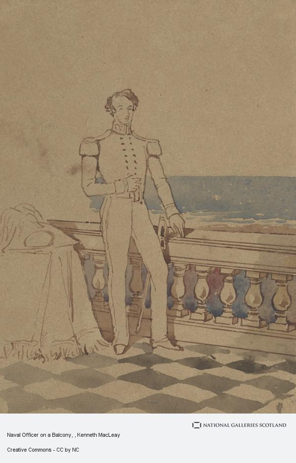 Kenneth Macleay, Naval Officer on a Balcony