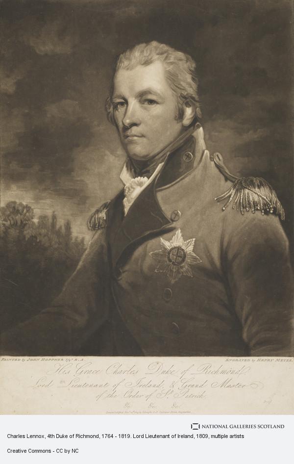 Henry Meyer, Charles Lennox, 4th Duke of Richmond, 1764 - 1819. Lord Lieutenant of Ireland
