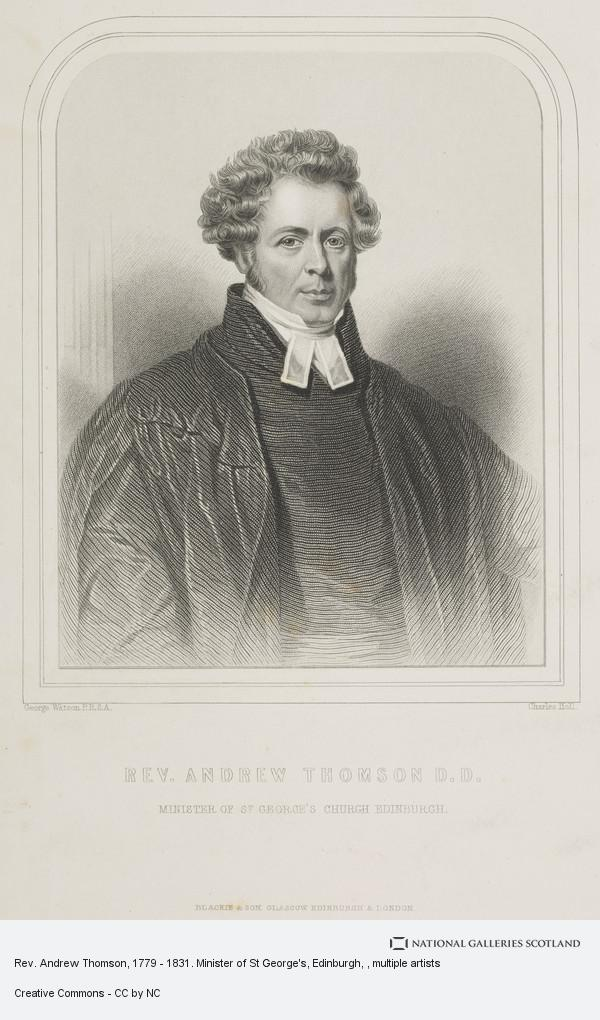 Charles Holl, Rev. Andrew Thomson, 1779 - 1831. Minister of St George's, Edinburgh