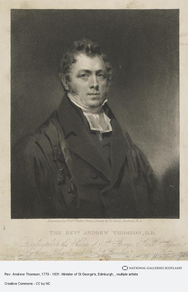 William Walker, Rev. Andrew Thomson, 1779 - 1831. Minister of St George's, Edinburgh