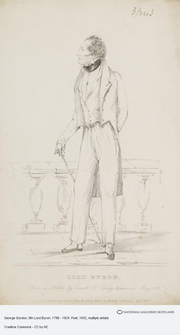 Unknown, George Gordon, 6th Lord Byron, 1788 - 1824. Poet