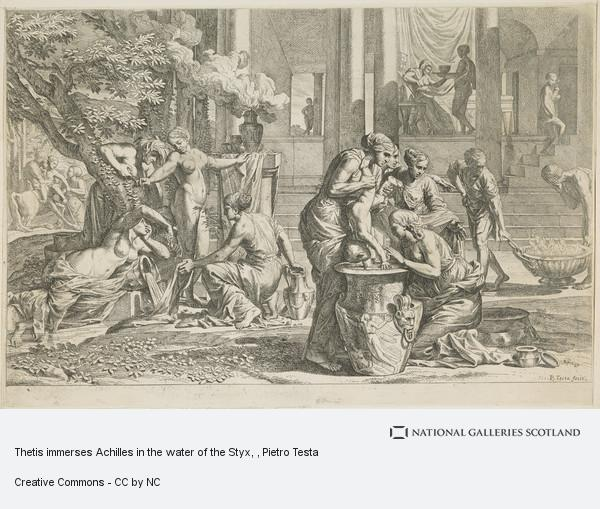 Thetis immerses Achilles in the water of the Styx   National