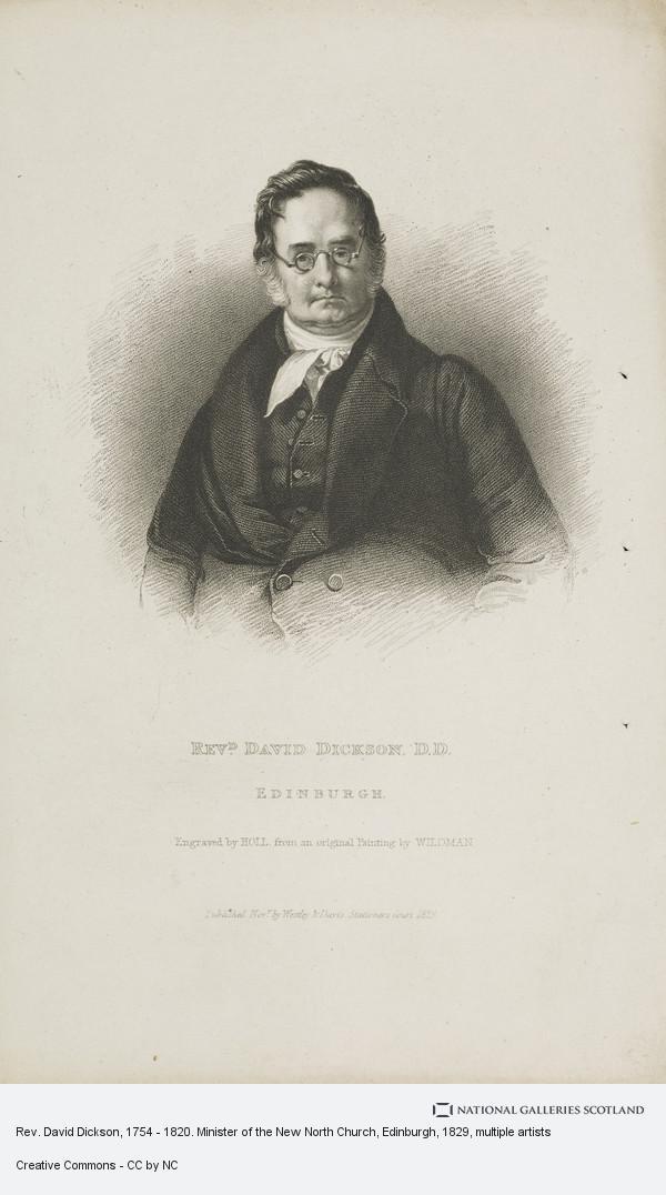 Holl, Rev. David Dickson, 1754 - 1820. Minister of the New North Church, Edinburgh