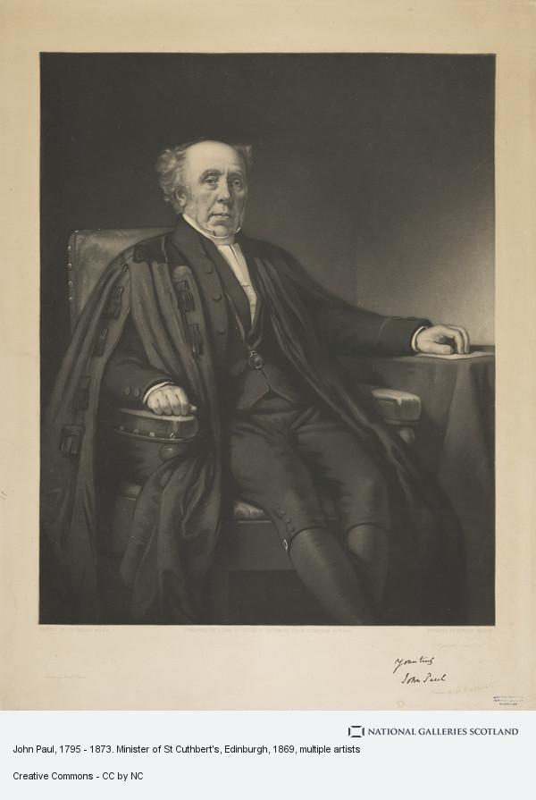 Edward Burton, John Paul, 1795 - 1873. Minister of St Cuthbert's, Edinburgh
