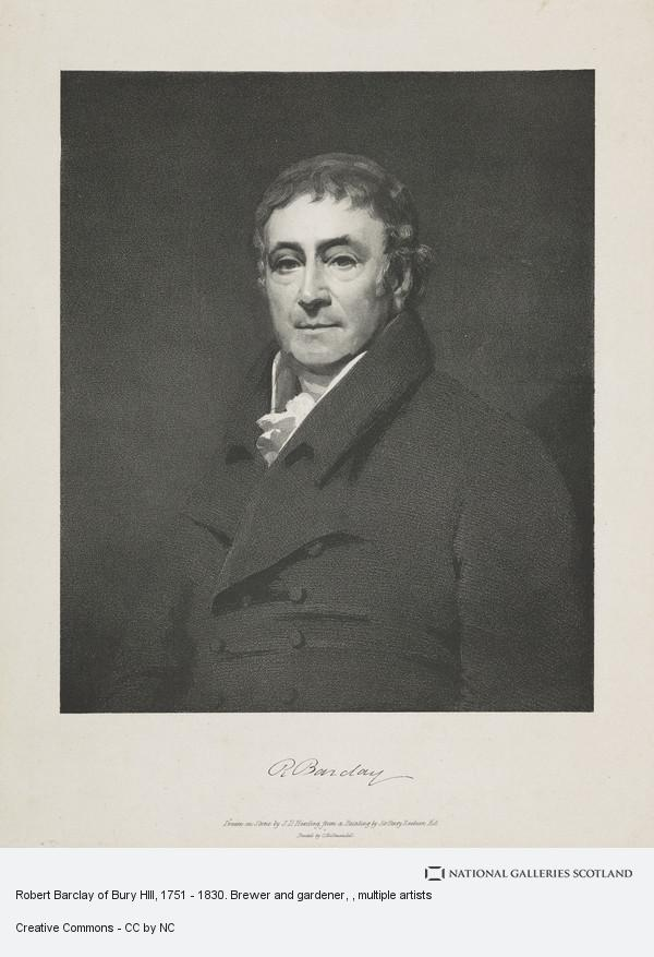 John Duffield Harding, Robert Barclay of Bury HIll, 1751 - 1830. Brewer and gardener