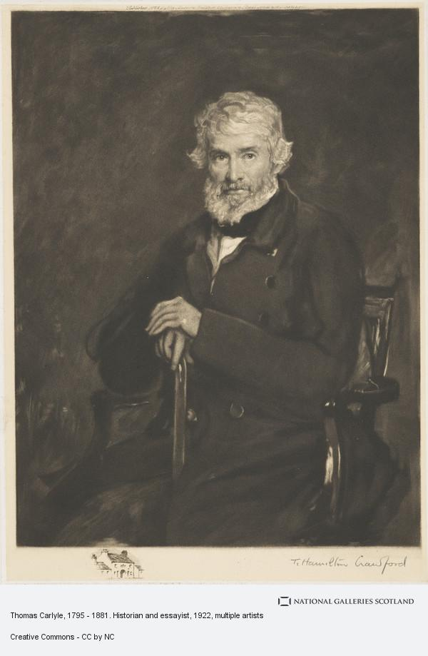 Thomas Crawford Hamilton, Thomas Carlyle, 1795 - 1881. Historian and essayist