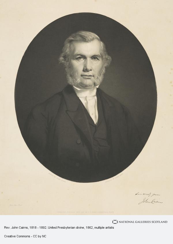 Alexander Scott, Rev. John Cairns, 1818 - 1892. United Presbyterian divine