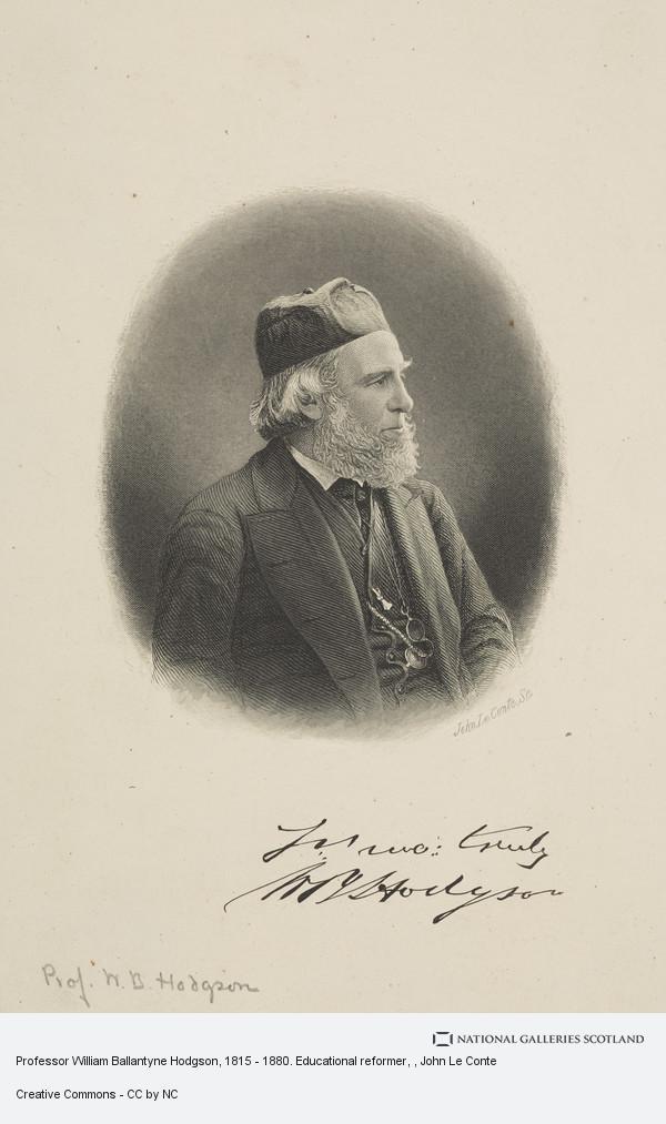 John Le Conte, Professor William Ballantyne Hodgson, 1815 - 1880. Educational reformer
