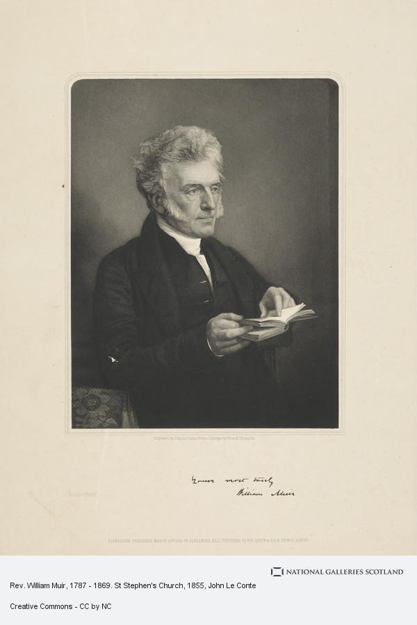 John Le Conte, Rev. William Muir, 1787 - 1869. St Stephen's Church